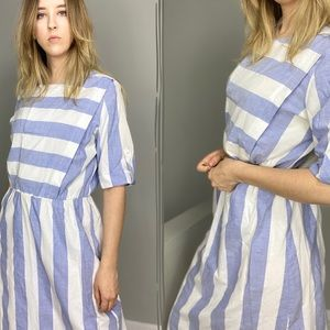 Vintage 80s /90s casual striped summer dress